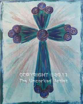 Cross (#017) • Created by Tara • 16x20 canvas • Tier 1