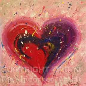 Dab & Splatter Heart (#003) • Created by Mandy • 12x12 canvas • Tier 1