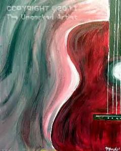 Half Guitar (#012) • Created by Mandy • 16x20 canvas • Tier 1