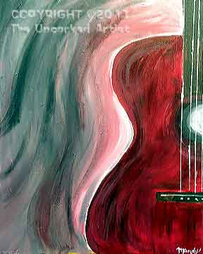 Half Guitar (#012) • Created by Mandy • 16x20 canvas • Tier 1