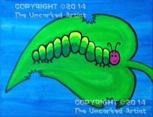 Hungry Caterpillar (#021) • Created by Crystal • 11x14 canvas • Tier 1