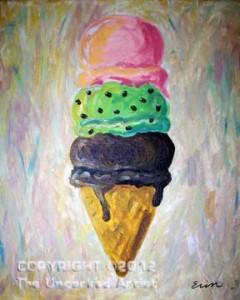 Ice Cream Cone (#004) • Created by Erin • 16x20 canvas • Tier 1