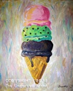 Ice Cream Cone (#004) • Created by Erin • 16x20 canvas • Tier 1