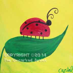 Ladybug (#009) • Created by Crystal • 12x12 canvas • Tier 1