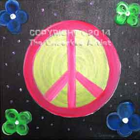 Peace Sign (#006) • Created by Tammy • 12x12 canvas • Tier 1