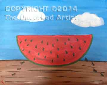 Watermelon (#024) • Created by Erin • 11x14 canvas • Tier 1