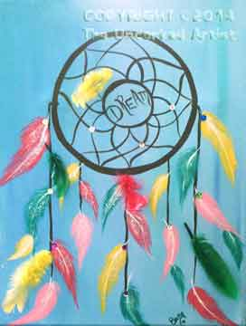 3D Dreamcatcher (#041) • Created by Becky • Add your own embellishments to this once you're done painting (feathers, sequins, etc.) • 11x14 canvas • Tier 2