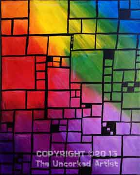 Abstract Squares (#088) • Created by Karoline •Select any background colors you like! • 11x14 • Tier