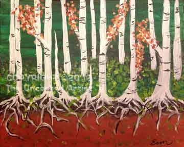 Aspen Roots (#142) • Created by Erin • 16x20 • Tier 3