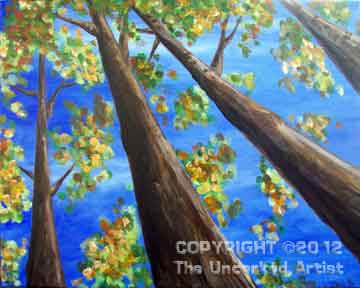 Looking Up at Autumn Trees (#109) • Created by Dani • 16x20 • Tier 3