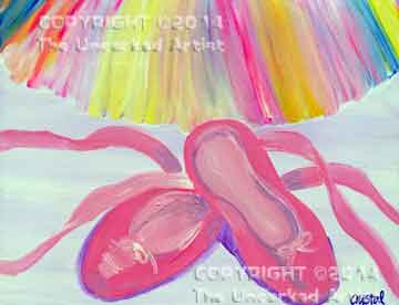 Ballet Slippers (#070) • Created by Crystal • 11x14 Canvas • Tier 2