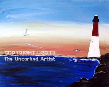 Barnegat Lighthouse (#117) • Created by Mandy • 16x20 • Tier 3