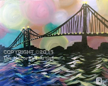 Ben Franklin Bridge (#334) • Created by Liz • 16×20 • Tier 3