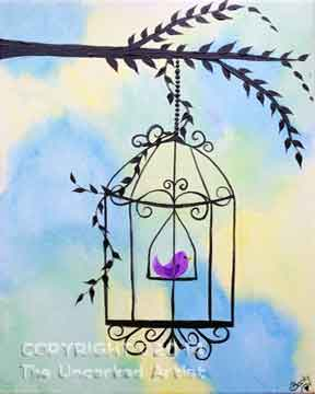 Bird Cage (#127) • Created by Rebecca • 11x14 • Tier 3