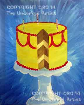 Birthday Cake (#051) • Created by Crystal • 16x20 canvas • Tier 2