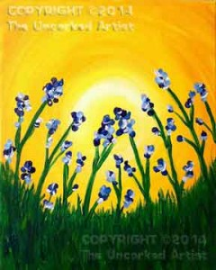 Bluebells (#095) • Created by Tara • Special Thanks to Paint Therapy Uncorked • 11x14 • Tier 3