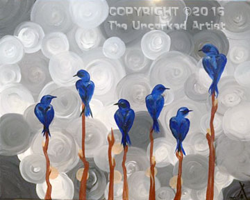 Bluebirds Resting (#379) • Created by Trish • 16×20 • Tier 3