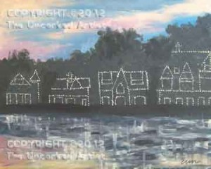 Philadelphia Boathouse Row (#269) • Created by Erin • 16x20 • Tier 4