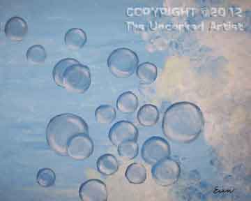 Bubbles And Clouds (147) • Created by Erin • Stencils available • 16x20 • Tier 3