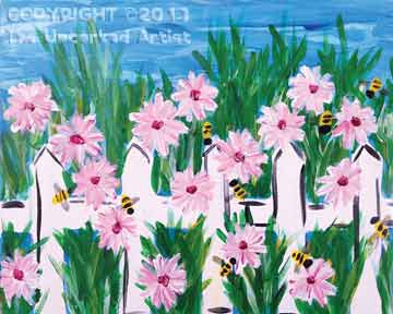 Busy Bees (#131) • Created by Erin • 16x20 • Tier 3