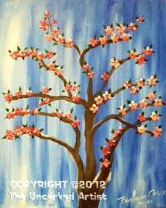 Cherry Blossom Tree (#068) • 16x20 canvas • Tier 2