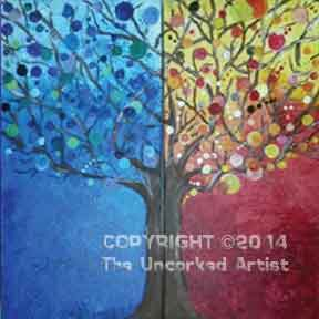 Partner Painting Circle Tree (#137) • Created by Erin • 10x20 (each side)  • Tier 3