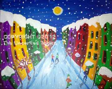 City Christmas (#275) • Created by Erin • 16x20 • Tier 5