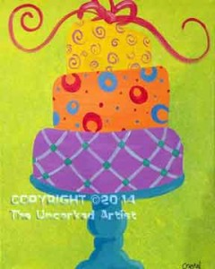 Colorful Cake (#049) • Created by Crystal • 16x20 • Tier 2