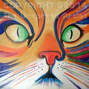 Colorful Cat (#236) • Created by Karoline • 18x18 • Tier 4