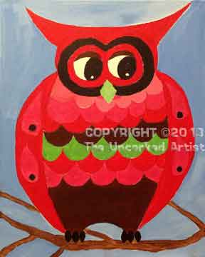 Colorful Owl (#138) • Created by Mandy • 16x20 • Tier 3