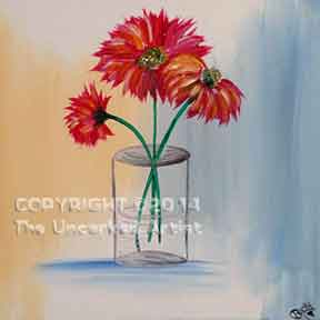 Daisy Vase (#114) • Created by Becky • Special thanks to Kelly Doak www.sippingnpaintinghampden.com • 12x12 • Tier 3