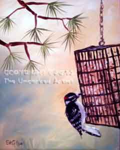Downy Woodpecker (#261) • Created by Steffi • 16x20 • Tier 4