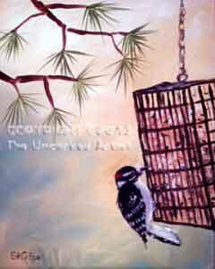 Downy Woodpecker (#261) • Created by Steffi • 16x20 • Tier 4