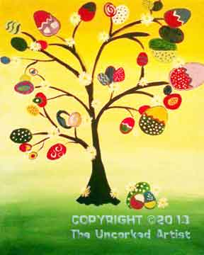 Easter Tree (#071) • Created by Mandy • 16x20 canvas • Tier 2