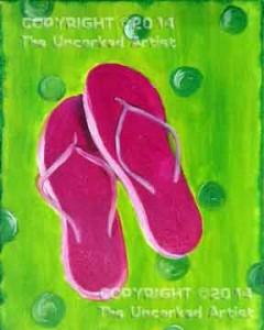 Flip Flops (#065) • Created by Jenn • 11x14 canvas • Tier 2