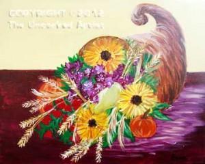 Flower Cornucopia (#240) • Created by Erin • 16x20 • Tier 4