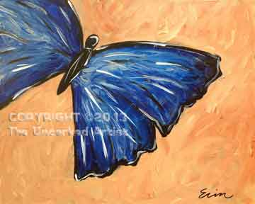 Flutterby (#064) • Created by Erin • 16x20 canvas • Tier 2
