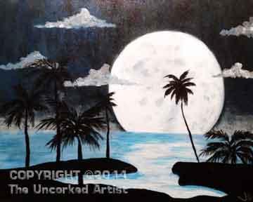 Full Moon Lagoon (#098) • Created by Jenn • 16x20 • Tier 3