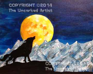 Howling Wolf - Full Moon Rising (#154) • Created by Jen • 16x20 • Tier 3