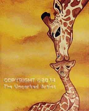 Giraffe's First Kiss (#157) • Created by Michelle • 11x14 • Tier 3