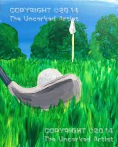 Golf (#063) • Created by Crystal • 11x14 canvas • Tier 2