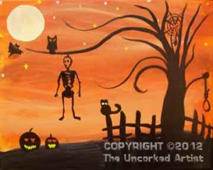 Halloween Tree (#076) • Created by Tara • 11x14 canvas • Tier 2