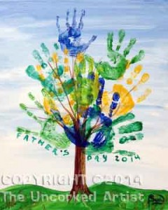 Hand Print Tree (#062) • Created by Susan • 16x20 canvas • Tier 2