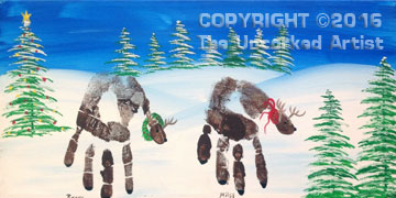 Handprint Reindeer (#374) • Created by Rebecca • 10×20 • Tier 1