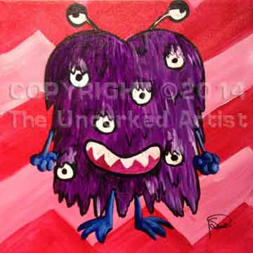 Harry The Hairy Monster (#046) • Created by Susan • 12x12 canvas • Tier 2