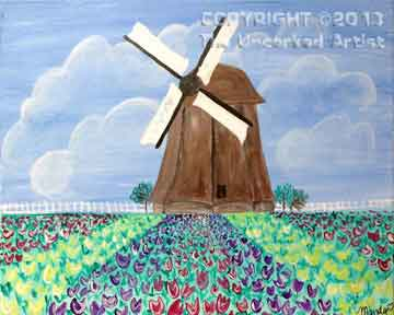Holland Windmill (#159) • Created by Mandy • 16x20 • Tier 3
