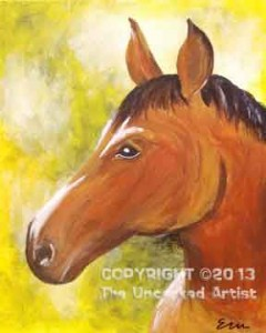 Horse Profile (#039) • Created by Erin • Template pre-sketched • 16x20 canvas • Tier 2