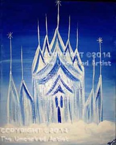 Ice Palace (#044) • Created by Becky • 11x14 canvas • Tier 2