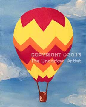 Kids Hot Air Balloon (#331) • Created by Liz • 11×14 • Tier 1