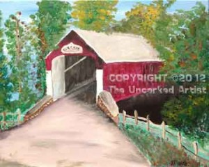 Knechts Covered Bridge (#278) • Created by Mandy • 16x20 • Tier 5